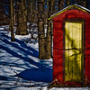 This little old storage shed sits on the edge of a lake by my house. While shooting some ice fisherman on the lake I turned to see this cool colored door with all types of tree & branch shadows flowing up the hill side. When i got it into post it even looked better so I decided to use it for today's POD.<br /> <br /> Well my contract bid has been put together & sent in for review, hopefully I have satisfied their needs and will win this job. It's out of my hands now, just have to wait - tap tap tap LOL<br /> <br /> Have a Great Day everyone,<br /> ~Bill~