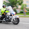 Police Bike Oil Painting Shot