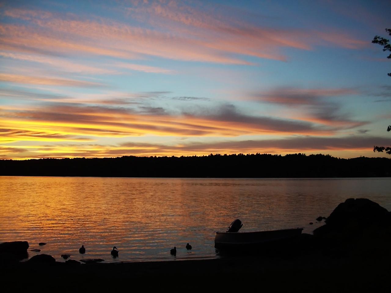 Sunset on Lake Michigamme in Michigan's Upper Peninsula