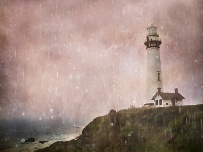 Pigeon Point Lighthouse in the Rain