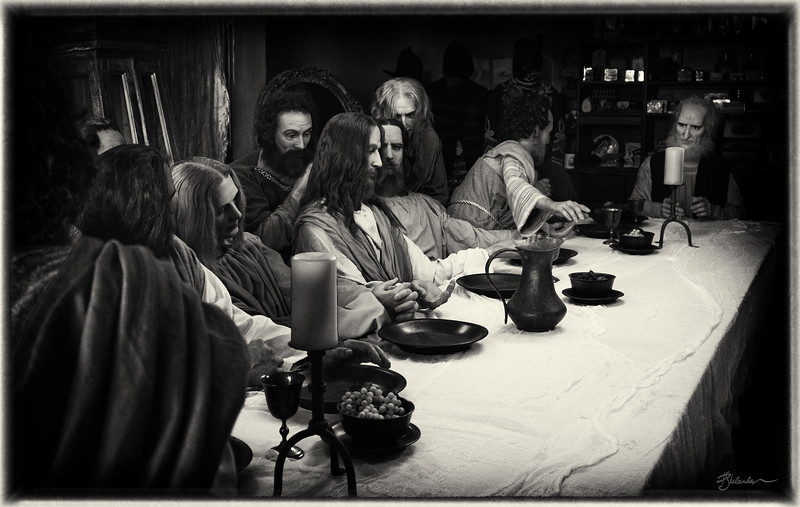 Wax Tableau of the Last Supper by Katherine Stubergh