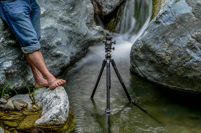 Feet of a photographer