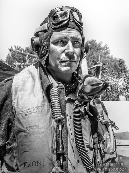 Pilot    Black & White Photography by Wayne Heim