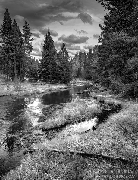 Meandering River    Black and White Photography by Wayne Heim