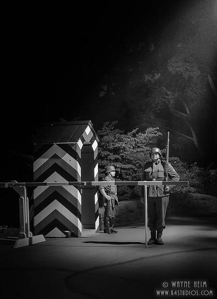 Night Guard Duty  - Black and White Photography by Wayne Heim