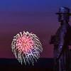 Gen. Govenour Warren Monument  with Fireworks