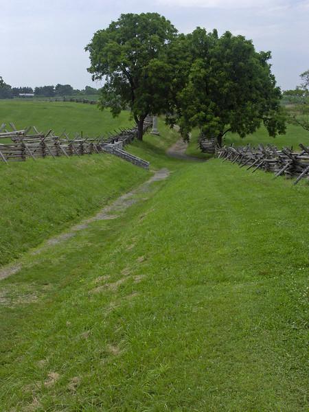 The Sunken Road at Antietam Battlefield