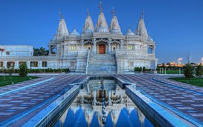 The BAPS Shri Swaminarayan Mandir complex in Toronto