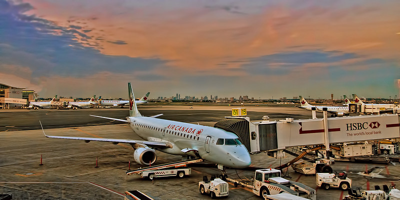 """""""Leaving on a jet plane"""" - Pearson International Airport"""