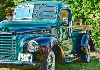 This 1949 International Harvester Pickup was parked outside the church at a wedding Lisa and I attended yesterday. Love these classics.