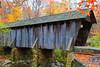 Covered Bridge Oil Painting