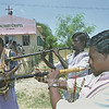 Musicians from the  Calvary Chapel church in India welcome the pastors with traditional music of horns and drums.