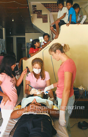 Denpasar, Bali, Indonesia -- Permata Bali orphanage. A dental team from Revival Christian Fellowship from Menifee, CA worked on cleaning, filling and pulling teeth of street children who now live in the orphanage. Thirty children live in the two homes from infant to 18 years old.  Debbie Denham, performed the teeth cleaning.