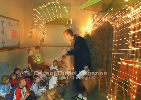 Calvary Chapel Sunshine Coast Canada. Children participate in a vacation bible school