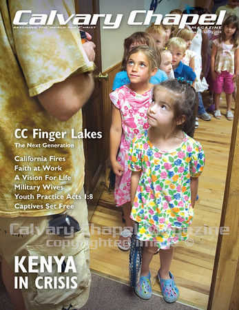 Children at CC Finger Lakes, NY, line up for Sunday school.
