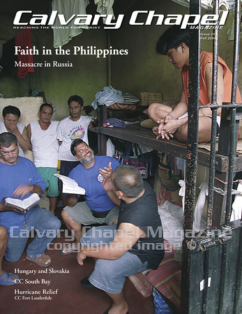 Pastor Gerry Brown shares the Gospel at a jail as part of an outreach he led to the Philippines. He oversees u-Turn for Christ, which assists those struggling with addictions and pastors CC Romoland in California.