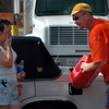 Teams from Calvary Chapels in Virginia drive 1,000 for one day to distribute supplies to Hurricane Katrina victims in Pascagoula Mississippi. The team distributed supplies in a shopping center parking lot on route 90 for five hours.
