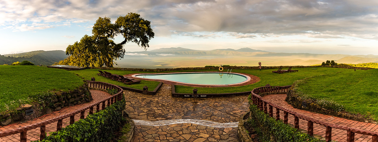 Ngorongoro Crater from the Sopa Lodge