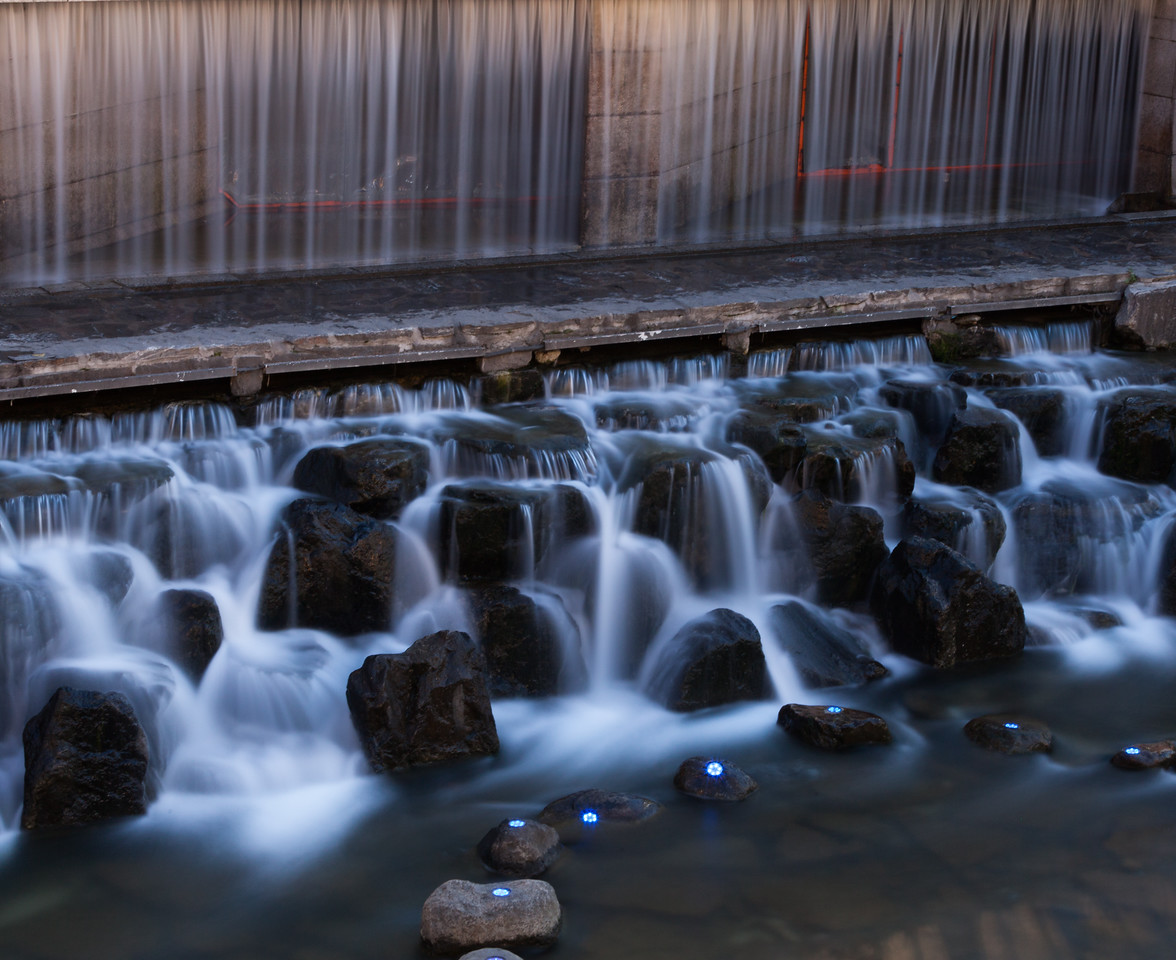 The waterfall and Lights