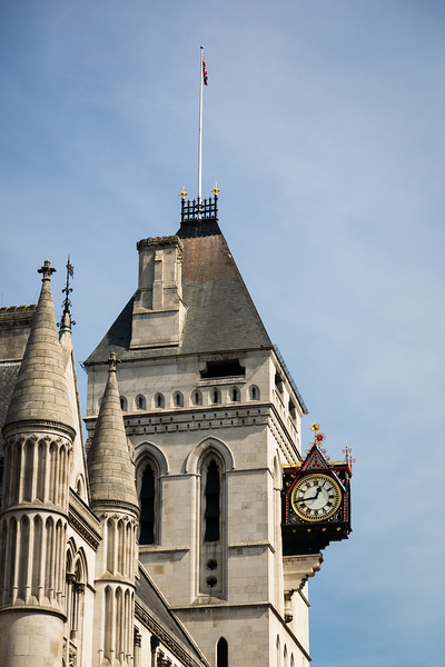 Clock at the Royal Courts of Justice