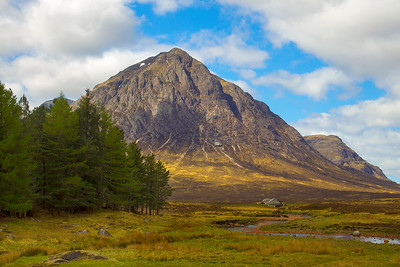 Buachaille Etive Mor at the head of Glen Etive in the Highlands.