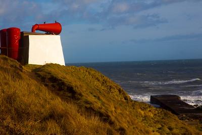 Foghorn at the Bay of Nigg. Aberdeen.