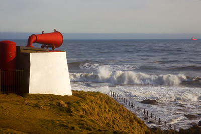 Old Foghorn at the Bay of Nigg. Aberdeen.
