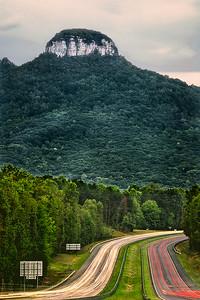 Light Trails at Pilot Mountain