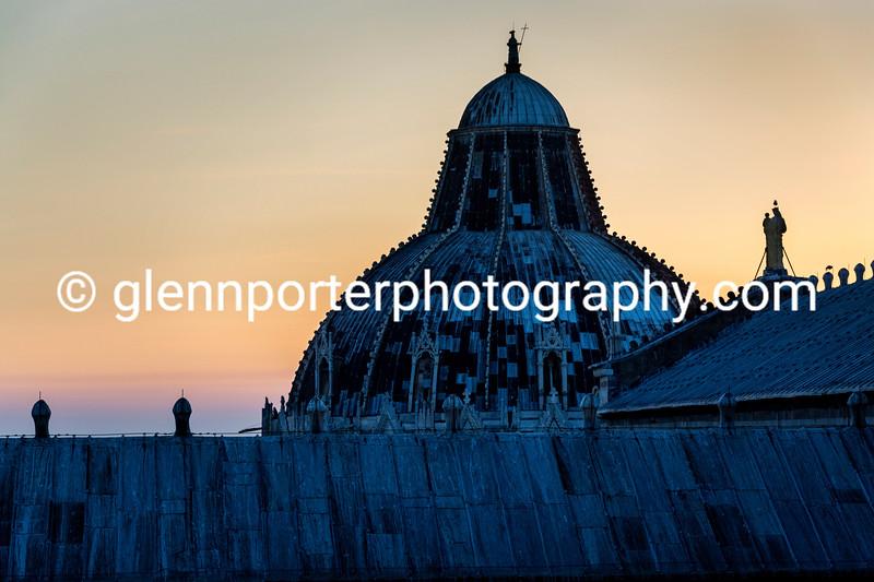 Sunset looking towards Duomo di Pisa (Cathedral of Pisa)
