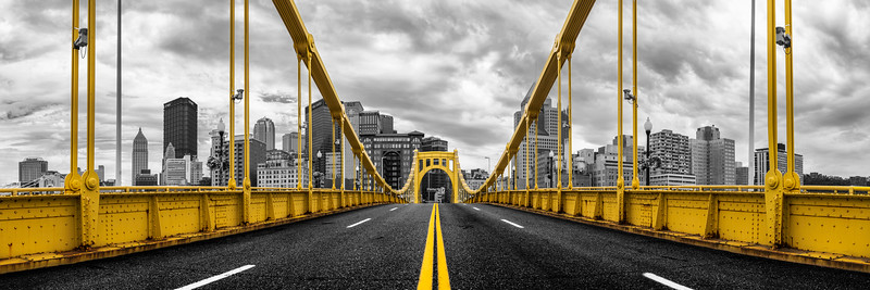 """Just Me and the Bridge"" - Pittsburgh, South Side   Recommended Print sizes*:  5x15  