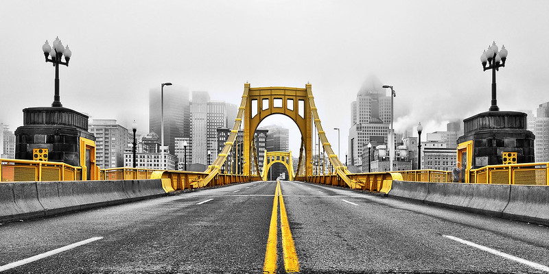 """""""Black and Gold"""" - Pittsburgh, North Shore   Recommended Print sizes*:  4x8      5x10     8x16     10x20     12x24     20x40  *When ordering other sizes make sure to adjust the cropping at checkout*  © JP Diroll 2011"""