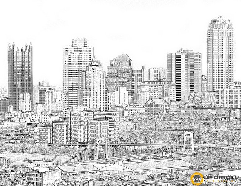 10th Street Skyline Coloring Page  Just right click, save, and print!