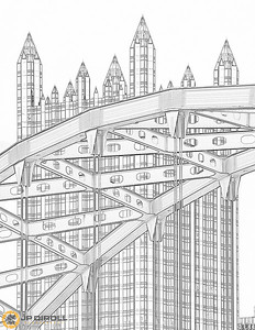PPG Place Coloring Page  Just right click, save, and print!