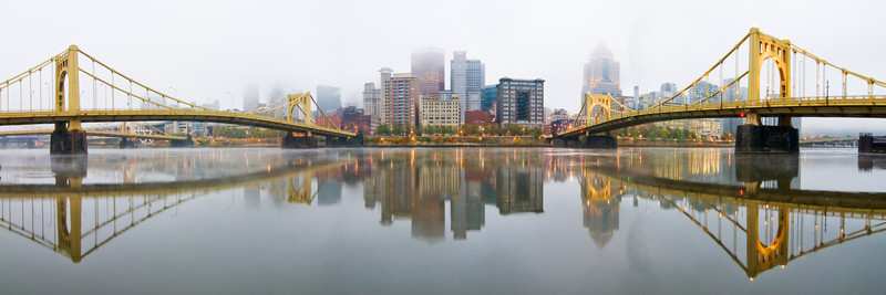 """Shore is Foggy"" - Pittsburgh, North Shore   Recommended Print sizes*:  5x15  