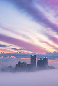 """Dreamscape (vertical)"" - Pittsburgh, Mount Washington   Recommended Print sizes*:  4x6  