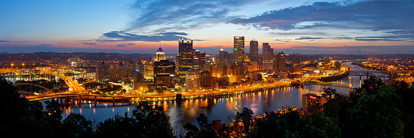 """While Pittsburgh Sleeps"" - Pittsburgh, Mount Washington   Recommended Print sizes*:  5x15  