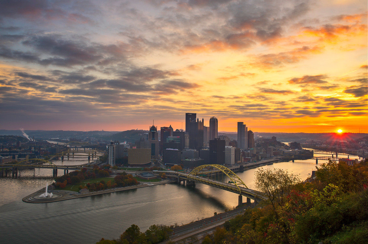 """""""October Sky"""" - Pittsburgh, Mount Washington   Recommended Print sizes*:  4x6  