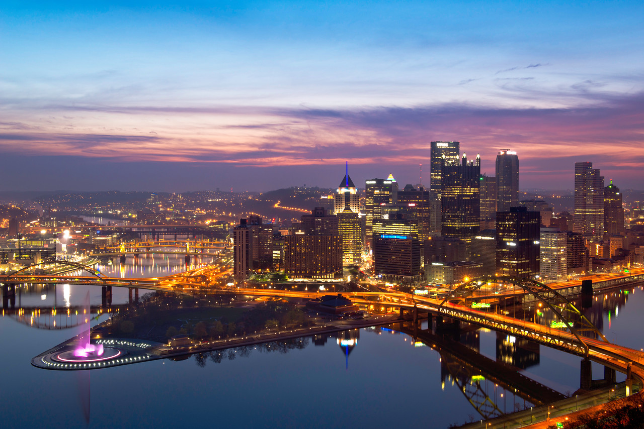 """""""Reemergence"""" - Pittsburgh, Mount Washington   Recommended Print sizes*:  4x6      8x12     12x18     16x24     20x30     24x36 *When ordering other sizes make sure to adjust the cropping at checkout*  © JP Diroll 2013"""