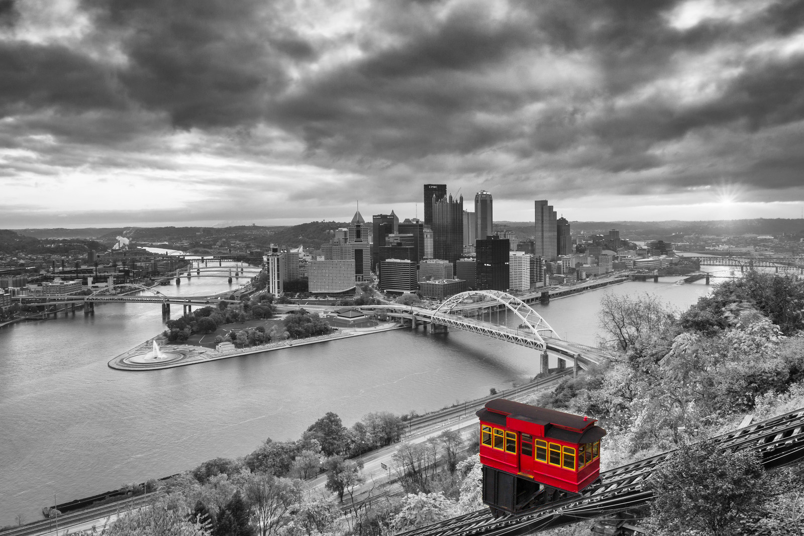 """""""Sublimely Subtle (Selective Color)"""" - Pittsburgh, Mount Washington   Recommended Print sizes*:  4x6  