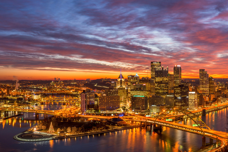 """Confluence of Color"" - Pittsburgh, Mount Washington   Recommended Print sizes*:  4x6  