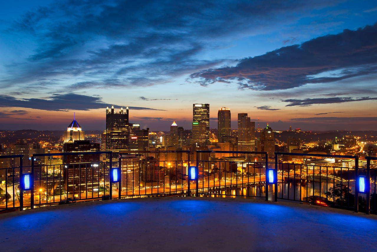 """""""Blue On Blue"""" - Pittsburgh, Mount Washington   Recommended Print sizes*:  4x6  