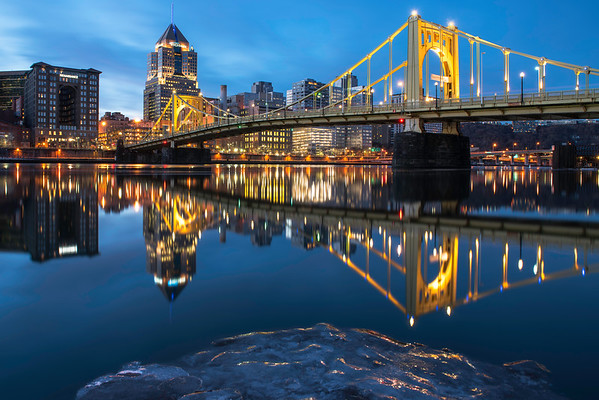 """The Last Iceberg"" - Pittsburgh, North Shore   Recommended Print sizes*:  4x6  