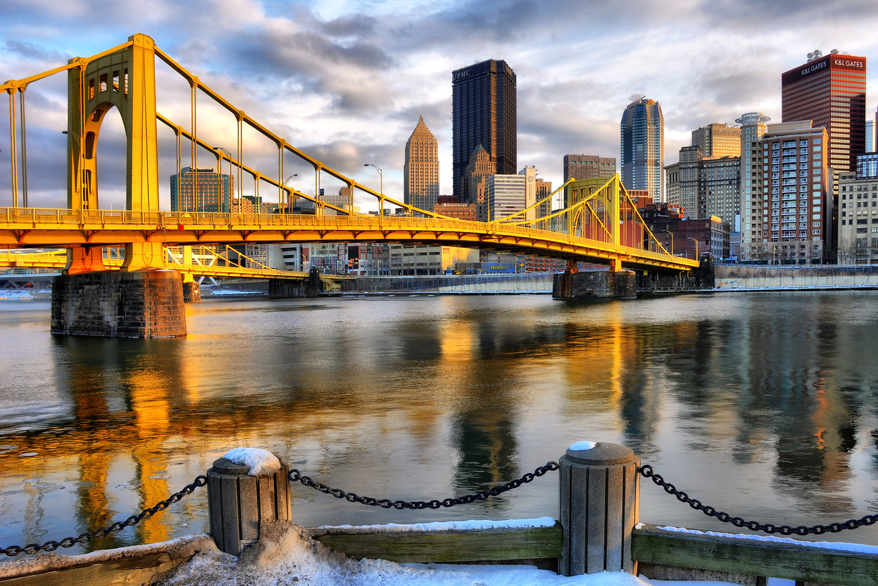 """""""WINTER'S LIGHT"""" - Pittsburgh, North Shore   Recommended Print sizes*:  4x6  