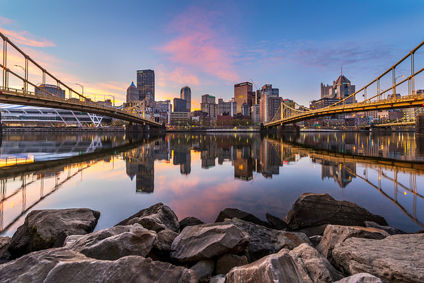 """Steel on the Rocks"" - Pittsburgh, North Shore   Recommended Print sizes*:  4x6  