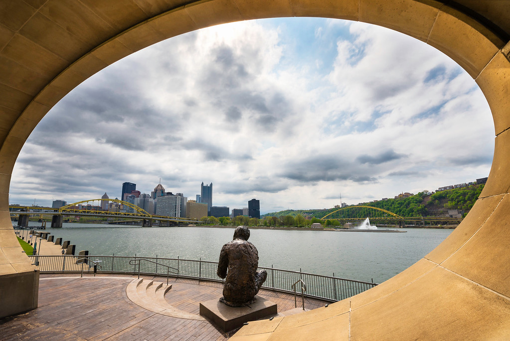 """A Beautiful Day in the Neighborhood"" - Pittsburgh, North Shore   Recommended Print sizes*:  4x6  
