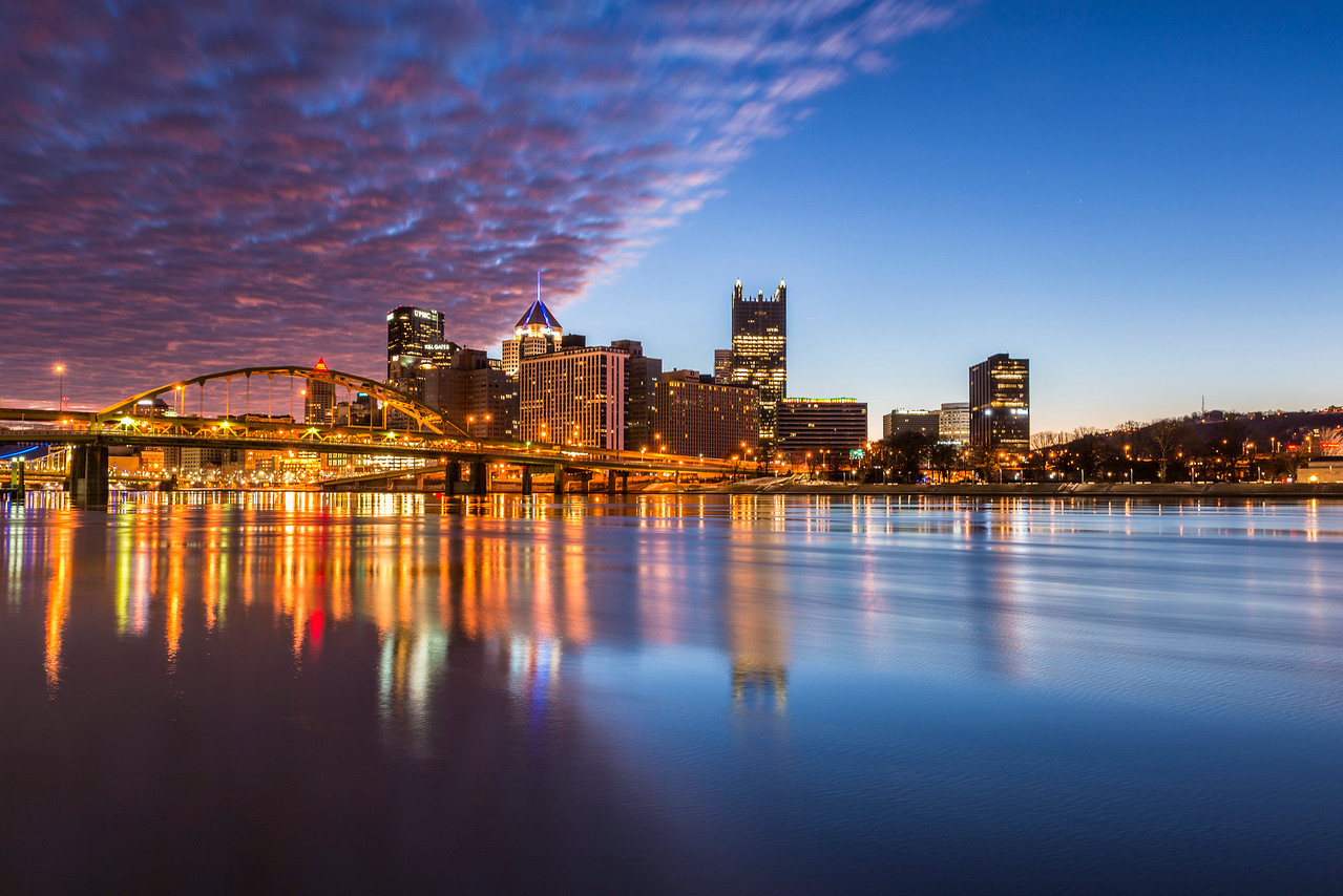 """Splitsburgh"" - Pittsburgh, North Shore   Recommended Print sizes*:  4x6  