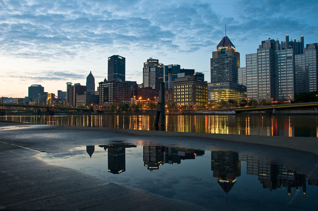 """""""Puddles of Pittsburgh"""" - Pittsburgh, North Shore   Recommended Print sizes*:  4x6  