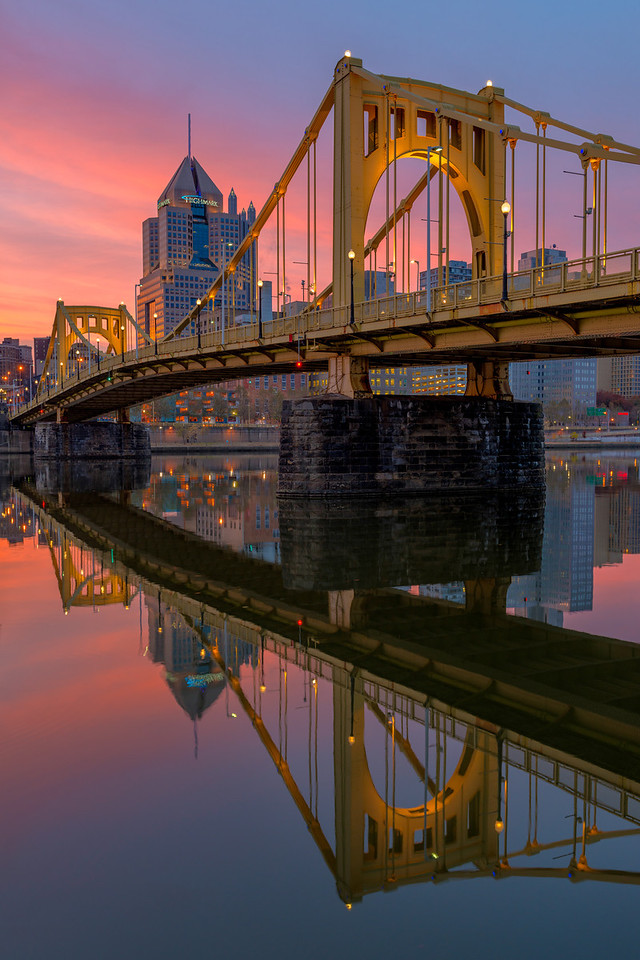 """""""Clemente Crossing"""" - Pittsburgh, North Shore   Recommended Print sizes*:  4x6      8x12     12x18     16x24     20x30     24x36 *When ordering other sizes make sure to adjust the cropping at checkout*  © JP Diroll 2013"""