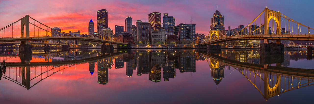 """""""Fire and Mirrors"""" - Pittsburgh, North Shore   Recommended Print sizes*:  5x15  