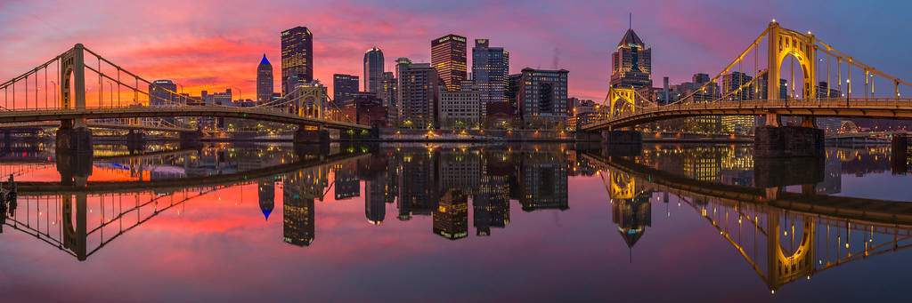 """Fire and Mirrors"" - Pittsburgh, North Shore   Recommended Print sizes*:  5x15  